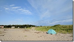 Good Harbor Beach looking across piping plover enclosure dune ©c ryan_20170627_063852