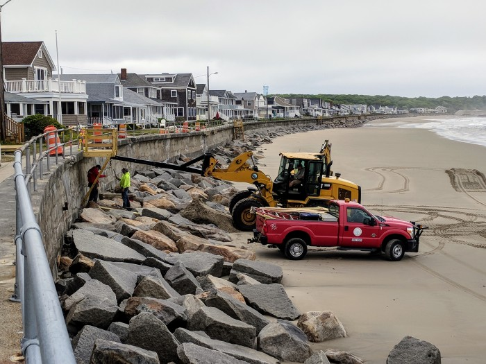 seawall stairs repaired again this season Long Beach Gloucester MA Rockport MA_20180605_©c ryan