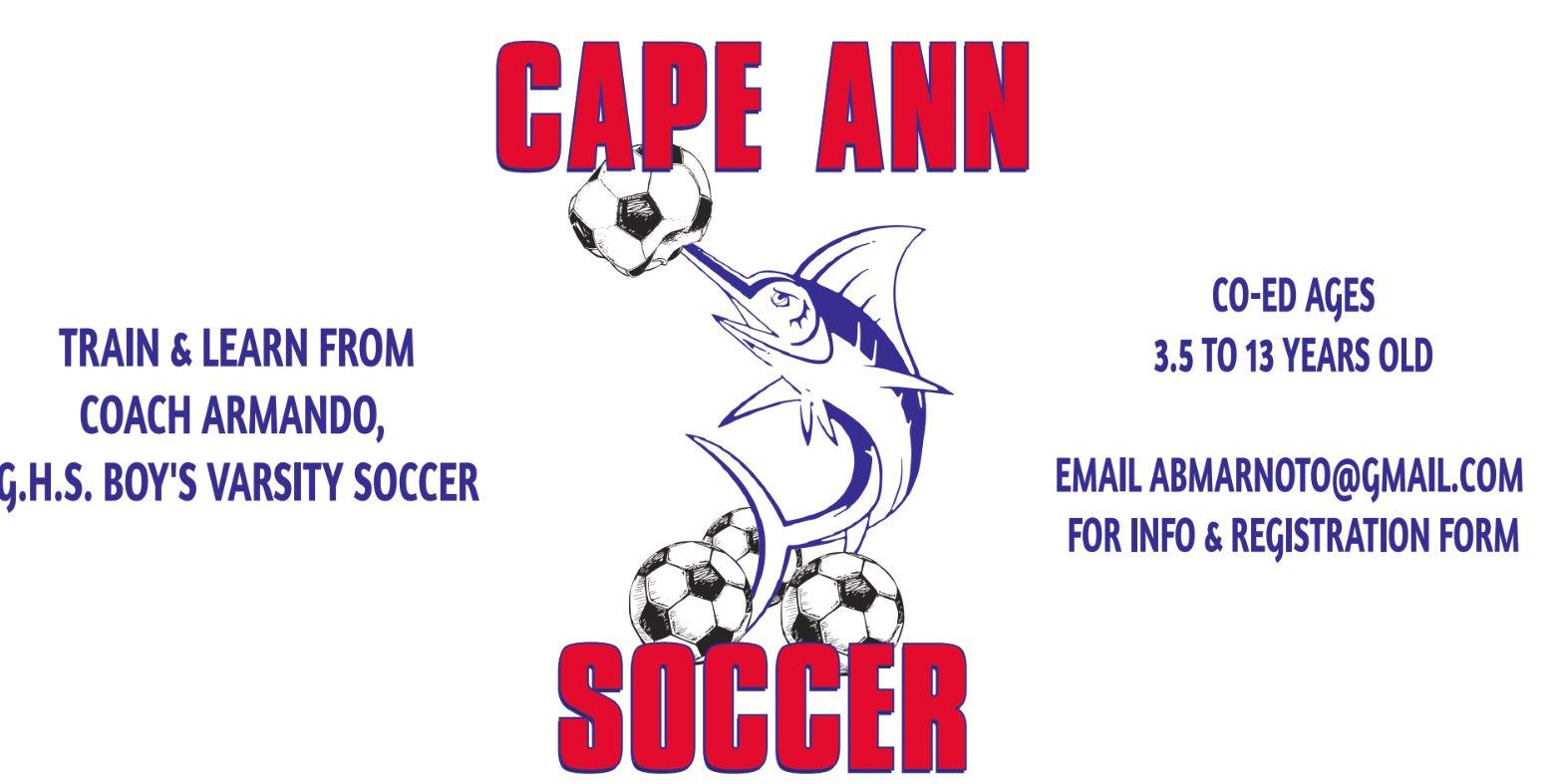 Cape Ann Soccer camp july 12
