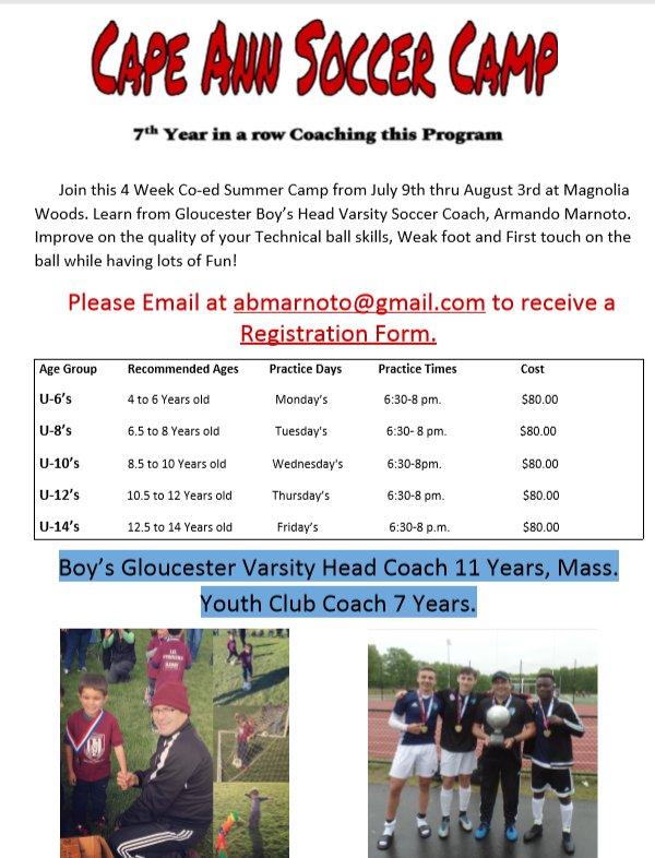 Cape Ann Soccer Camp
