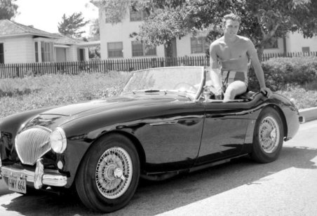 Clint Eastwood Austin Healey ca1958