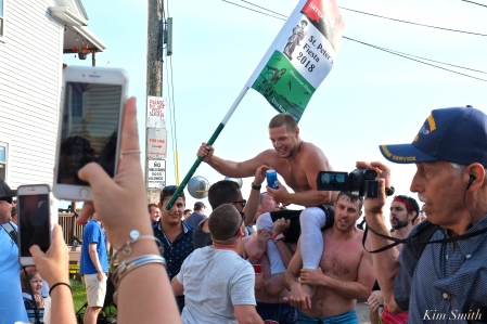 Greasy Pole Saturday Michael Sanfilippo 2018 Saint Peter's Fiesta -1 copyright Kim Smith