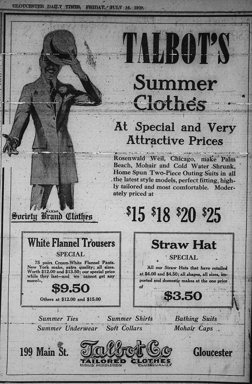 Talbut ad GDT July 16 1920