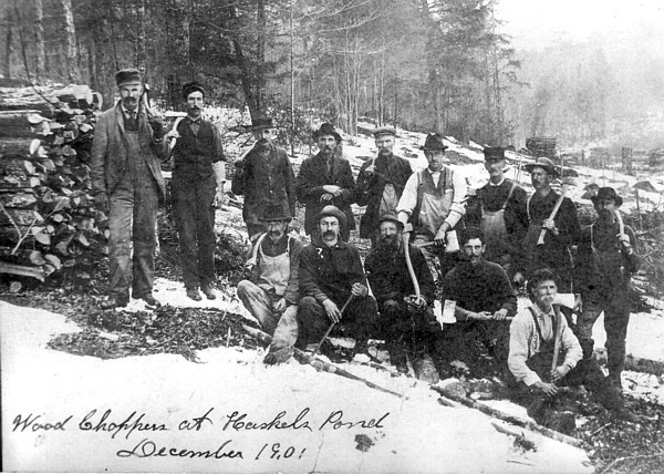 Clearing Haskells pond late 1901 © courtesy historic photo collection Bruce Roberts