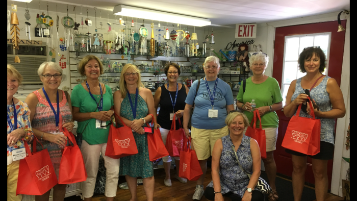 group from Austin Healey summit 2018 visit woman owned businesses along Essex Coastal Scenic Byway©Pauline Bresnahan.PNG