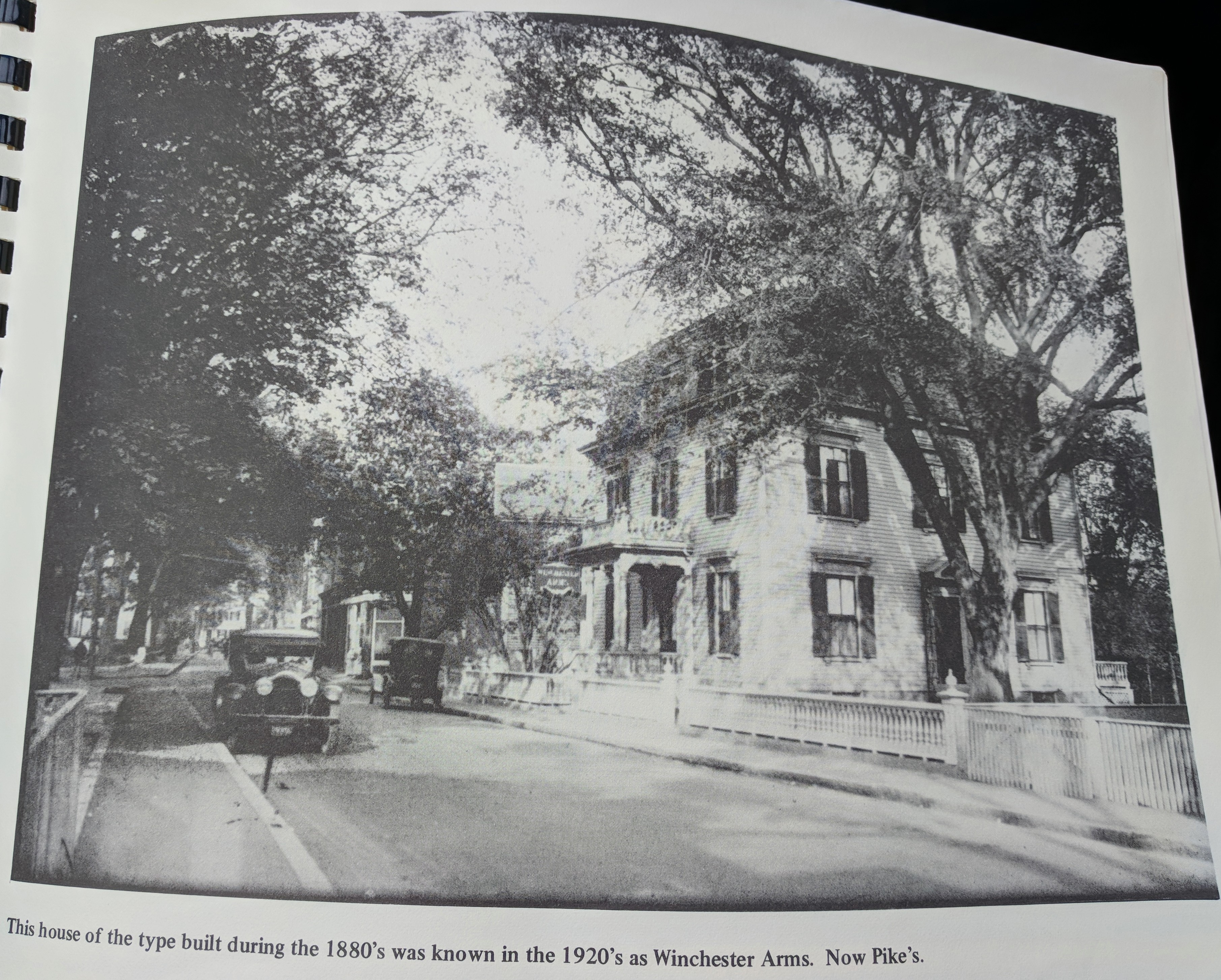 historic photograph Middle Street home before Pikes funeral home Gloucester Mass reproduced in Photographic History of Gloucester Vol 3 published 1978.jpg