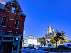 Middle and Pleasant Street looking back to City Hall_by 1920s Baptist Church where parking lot is now was address 22 Pleasant Str_Gloucester Mass_20180828_©Catherine Ryan
