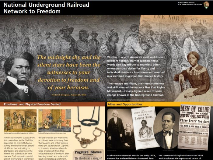 National Park Service 2018 brochure _National Underground Railroad Network to Freedom