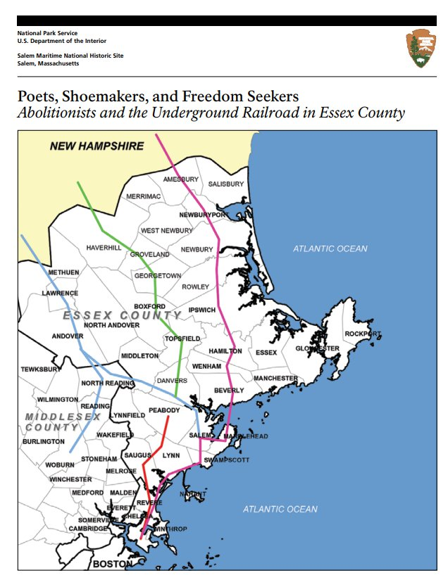National Park Service trail Essex County Brochure Poets Shoemakers and Freedom Seekers_Abolitionists and Underground Railroad in Essex County