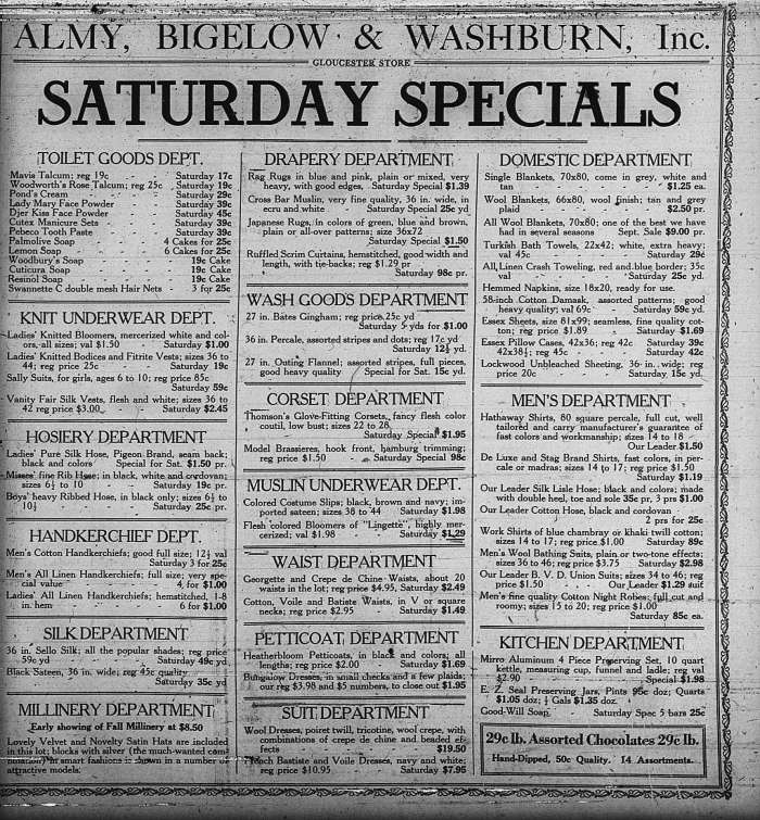 Saturday Specials GDT Sept 8 19220000