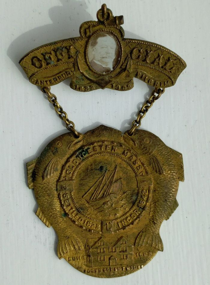 1909 Gloucester MA Canterbury Pilgrim Pageant Medal with PRESIDENT WILLIAM HOWARD TAFT photo
