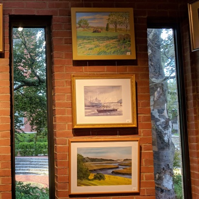 Annual Art Auction 2018 Sept preview for Oct 3 auction_ local artists fundraiser for Gloucester Lyceum & Sawyer Free Public Library _By Friends of SFL ©Catherine Rya (13)
