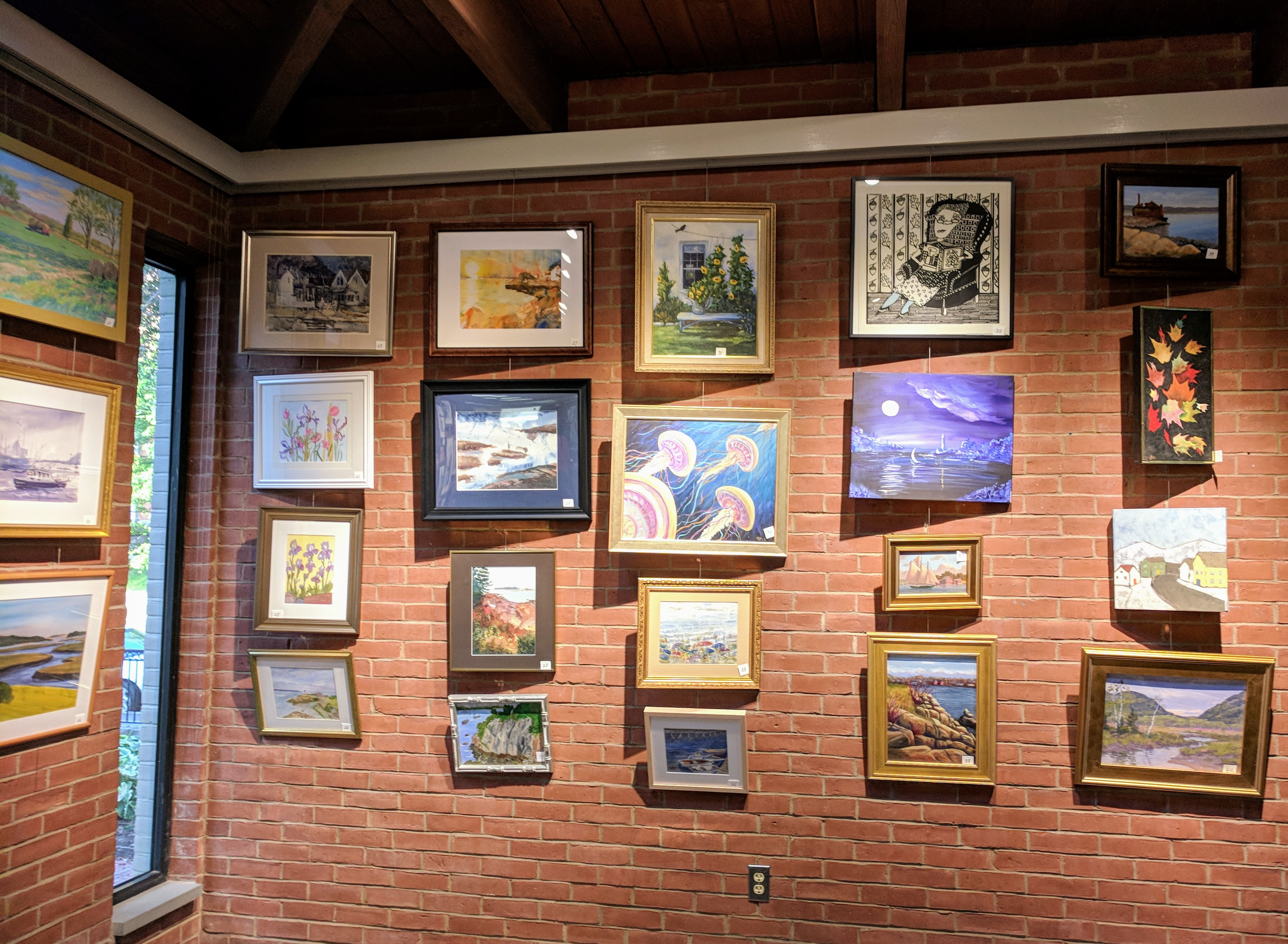 Annual Art Auction 2018 Sept preview for Oct 3 auction_ local artists fundraiser for Gloucester Lyceum & Sawyer Free Public Library _By Friends of SFL ©Catherine Rya (14)