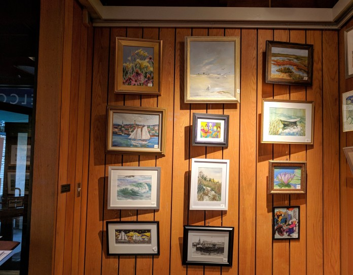 Annual Art Auction 2018 Sept preview for Oct 3 auction_ local artists fundraiser for Gloucester Lyceum & Sawyer Free Public Library _By Friends of SFL ©Catherine Rya (15)