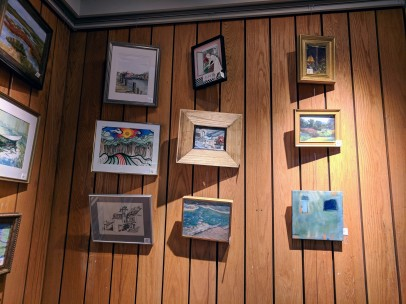 Annual Art Auction 2018 Sept preview for Oct 3 auction_ local artists fundraiser for Gloucester Lyceum & Sawyer Free Public Library _By Friends of SFL ©Catherine Rya (17)