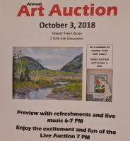 Annual Art Auction 2018 Sept preview for Oct 3 auction_ local artists fundraiser for Gloucester Lyceum & Sawyer Free Public Library _By Friends of SFL ©Catherine Rya (21)