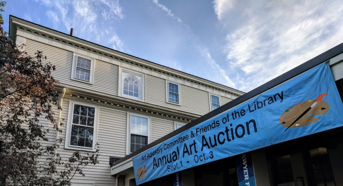 Annual Art Auction 2018 Sept preview for Oct 3 auction_ local artists fundraiser for Gloucester Lyceum & Sawyer Free Public Library _By Friends of SFL ©Catherine Rya (27)