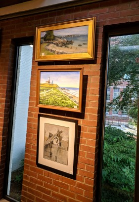 Annual Art Auction 2018 Sept preview for Oct 3 auction_ local artists fundraiser for Gloucester Lyceum & Sawyer Free Public Library _By Friends of SFL ©Catherine Rya (6)