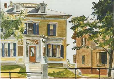 Edward Hopper_Davis House_Middle Street Gloucester Mass_ _watercolor_13 x 20 _sold 1996 536000.jpg