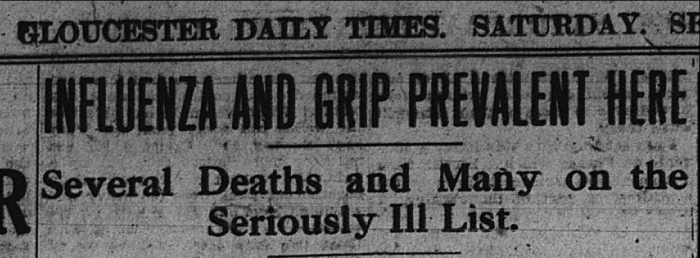 Flu headline Sept 14 1918