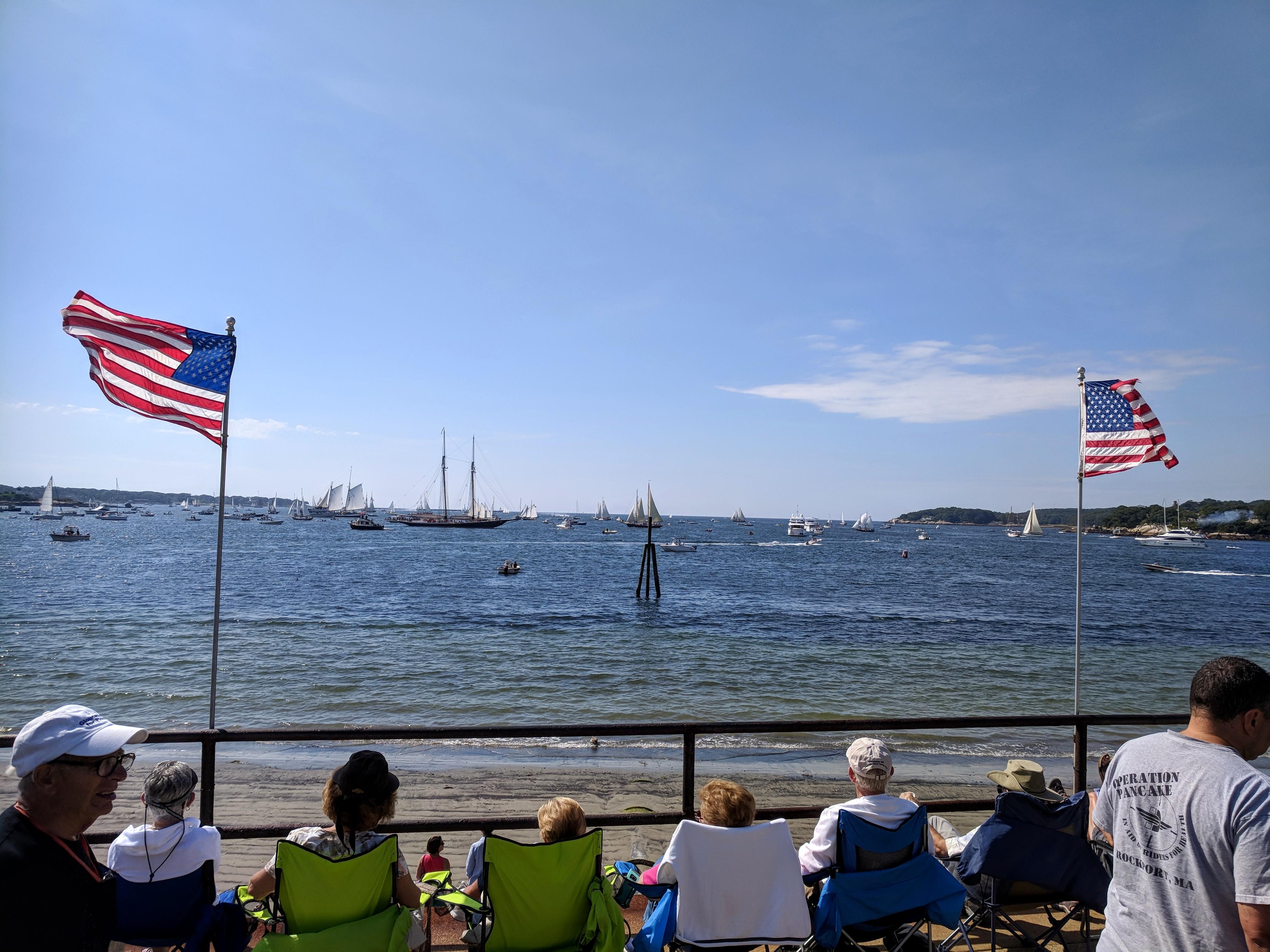 Parade of Sails Schooner Columbia rebuilt 2014 returns for Schooner Festival 2018_low tide ©c ryan.jpg
