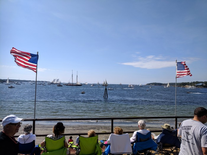 Parade of Sails Schooner Columbia rebuilt 2014 returns for Schooner Festival 2018_low tide ©c ryan.jpg