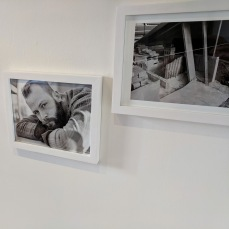 Peter Morse photos_David West Glouc. drawings_two person show Jane Deering Gallery Before the reception_Gloucester Mass_ 20180929_© catherine rya (5)