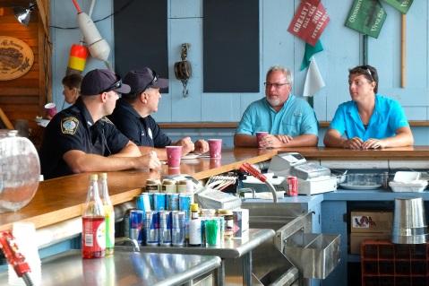 Schooner Festival Captain and Crew Meeting Gloucester House Restaurant copyright Kim Smith - 6