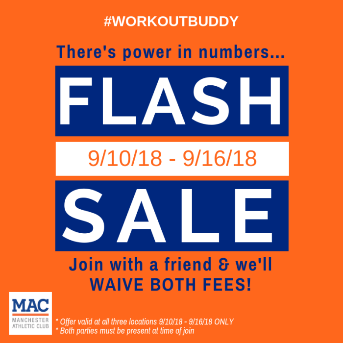 SEPTEMBER 2018 Membership Special_FLASH SALE 9.10 to 9.16
