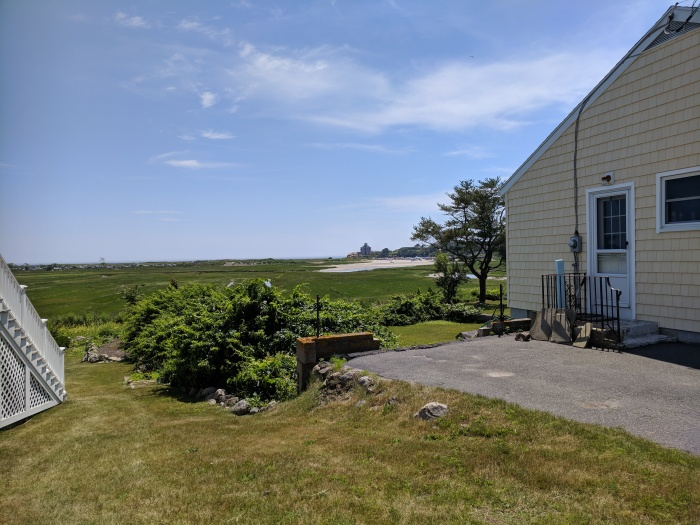 View to Good Harbor Beach across marsh_from the future sidewalk_Gloucester Mass_2018 June 30_©catherine ryan