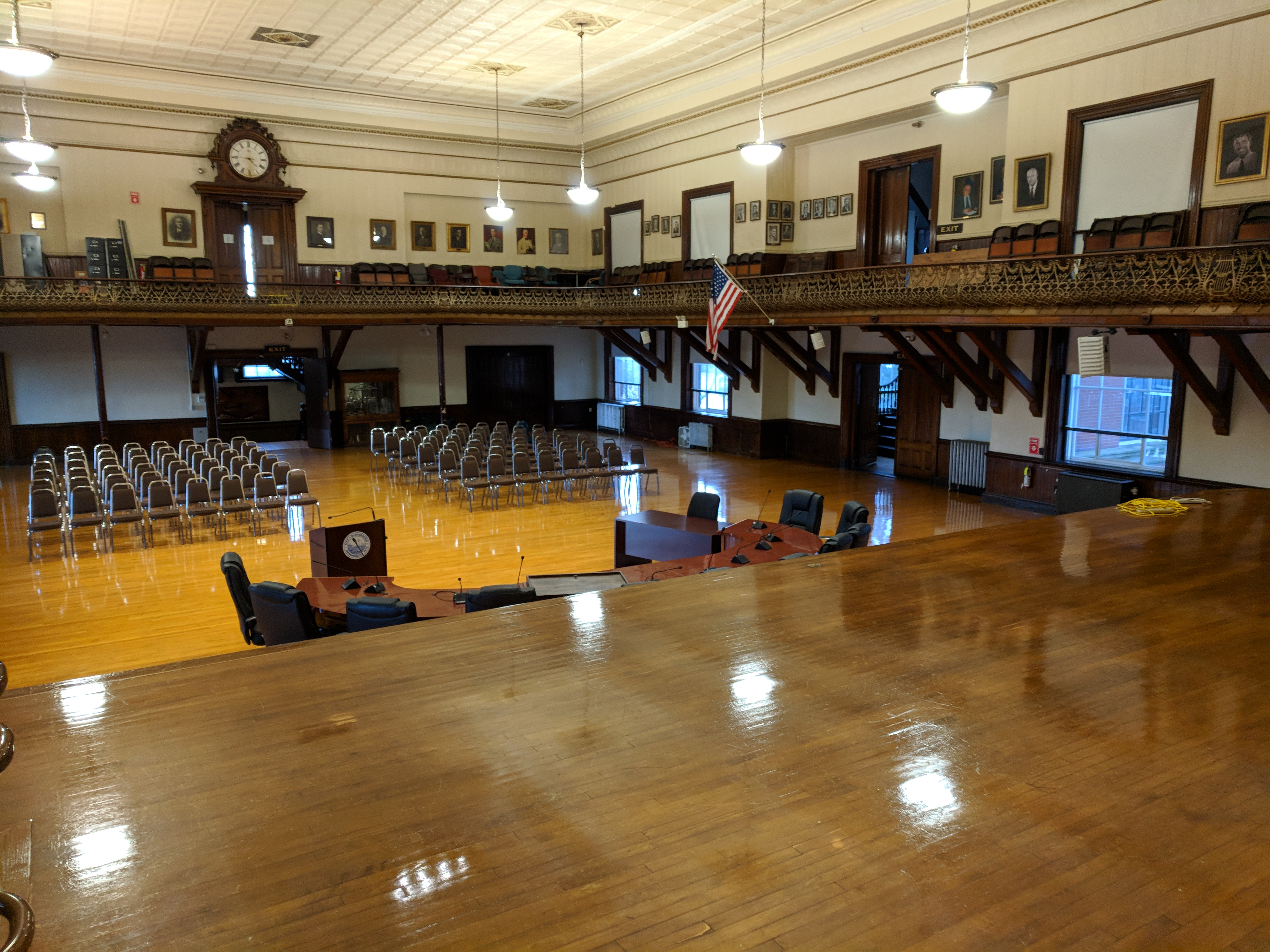 AFTER_looking out from stage after floor care Kyrouz Auditorium_City hall_Gloucester Mass ©c ryan20181017_164535.jpg