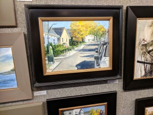 Autumn Arrives on Middle Street Gloucester Mass_for Cape Ann Plein Air 2018_BRUNO BARAN from Nottingham Maryland_20181014_153758