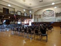 BEFORE_ Kyrouz Auditorium_City Hall_Gloucester MA_DPW preps to sand and buff the floors©c ryan (3)