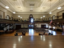 BEFORE_ Kyrouz Auditorium_City Hall_Gloucester MA_DPW preps to sand and buff the floors©c ryan (5)