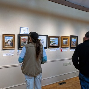 Cape Ann Plein Air Quick Draw crowd 2018 at Rockport Art Assoc Museum _20181014_© Catherine Ryan (3)
