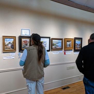 Cape Ann Plein Air Quick Draw crowd 2018 at Rockport Art Assoc Museum _20181014_© Catherine Ryan (3)