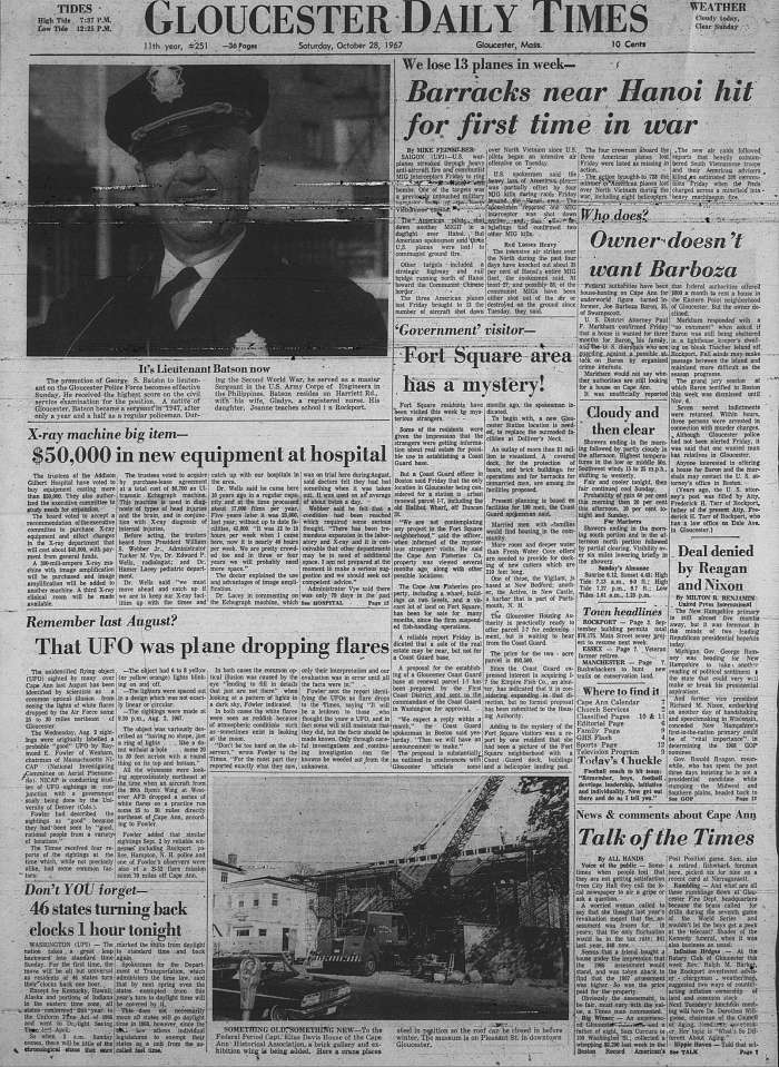Full front page GDT Oct 28 1967
