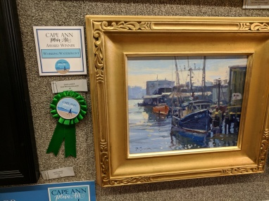 Good Morning Gloucester by David Lussier_received working waterfront recognition_Cape Ann Plein Air 2018