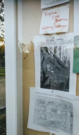 Lanesville Community Center Gloucester MA_2018 Oct_notice board ©c ryan