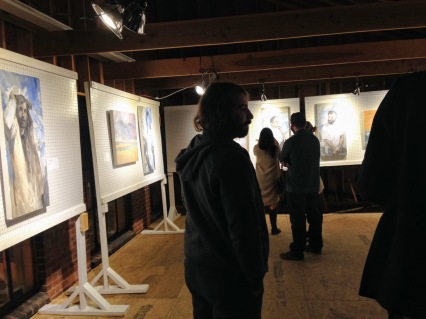 Leon Doucette and Peter Herbert recent works ART at Cape Pond Ice_ art at icehouse_courtesy photo from Scot Memhard (4)