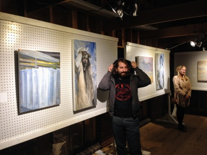 Leon Doucette and Peter Herbert recent works ART at Cape Pond Ice_ art at icehouse_courtesy photo from Scot Memhard (5)