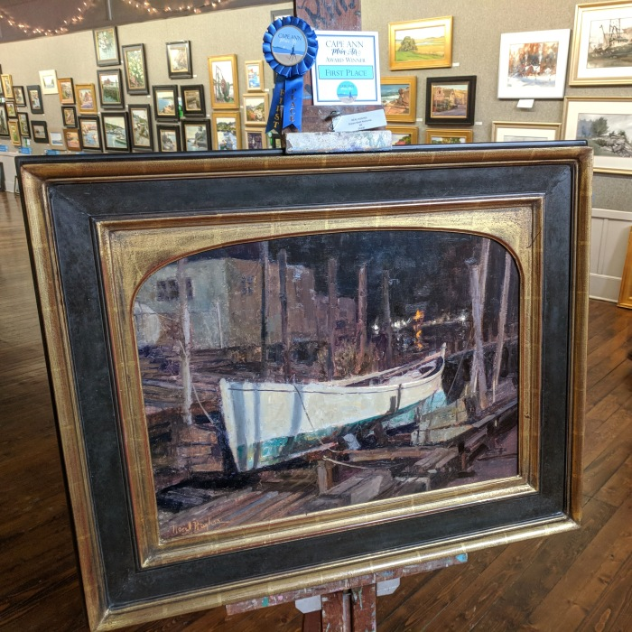 NEAL HUGHES_Dream Boat Nocturne_oil_First Place Cape Ann Plein Air award winner_exhibition at North Shore Art Association_20181014_©c ryan