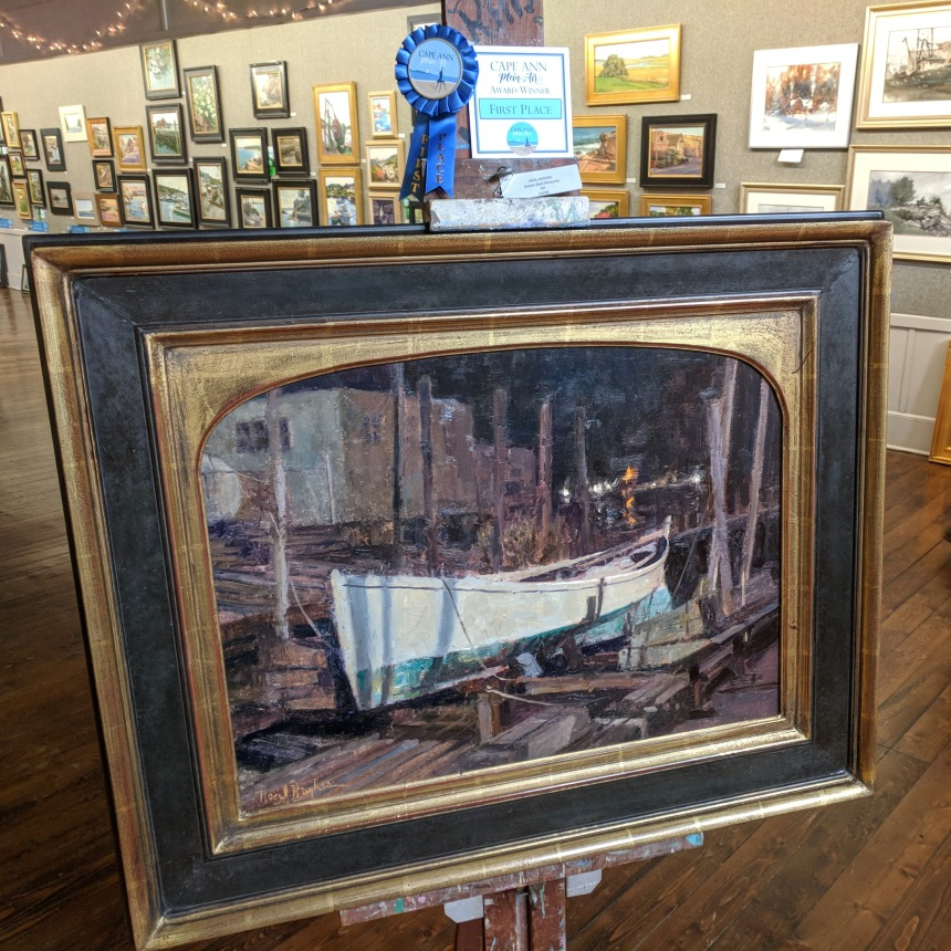 NEAL HUGHES_Dream Boat Nocturne_oil_First Place Cape Ann Plein Air award winner_exhibition at North Shore Art Association_20181014_©c ryan