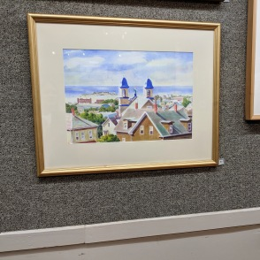 REMO GAIETTO_View of Gloucester_North Shore Art Assoc Gloucester Ma Exhibition IV 2018 _20181014_©Catherine Ryan
