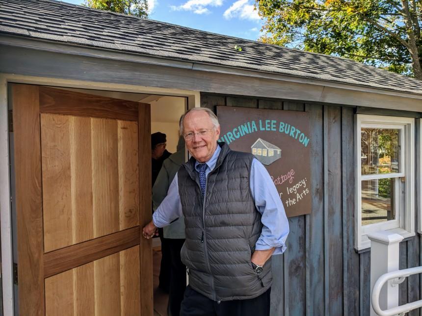 ROSS BURTON _Virginia Lee Burton Writing Cottage opens_Lanesville Community Center_Gloucester MA_20181021_© c ryan