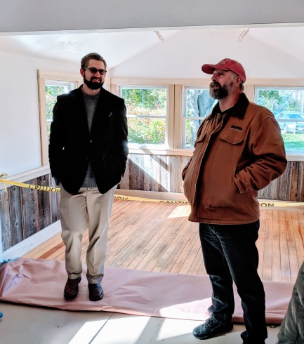Russell Hobbs & Chris Wagner_Virginia Lee Burton Writing Cottage opens_Lanesville Community Center_Gloucester MA_20181021_© c ryan