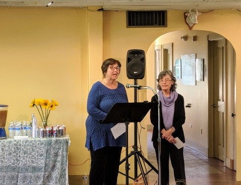 Judith Oleson (L) Cheryl Mazer (R)