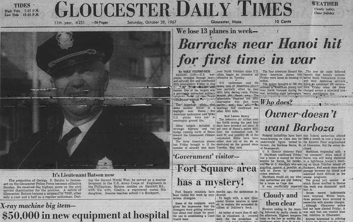 Zoomed front page GDT Oct 28 1967