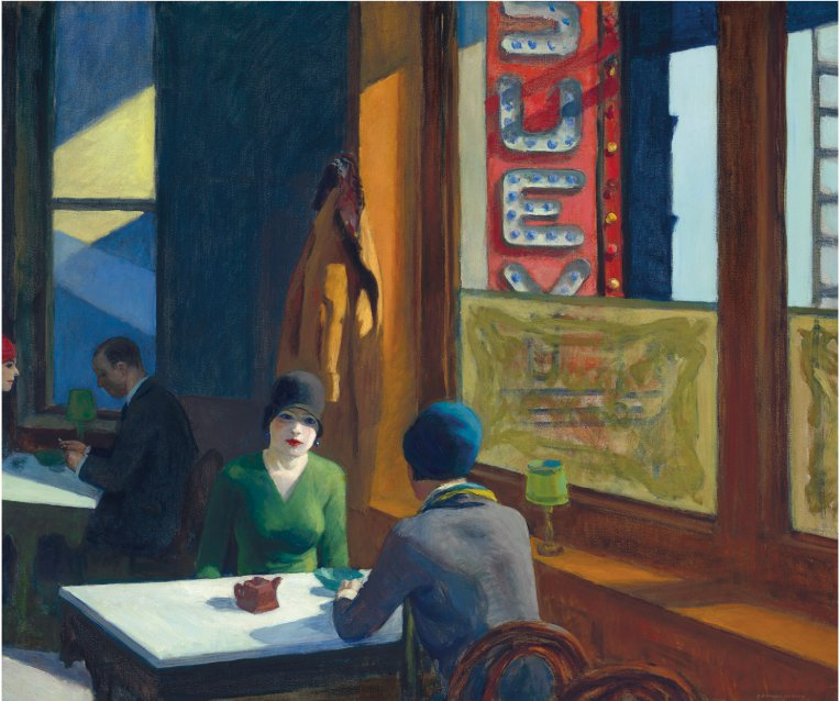 c EDWARD HOPPER _Chop Suey_32 x 38_ 1929 oc_Christies presale estimate 70 mil to 100 million