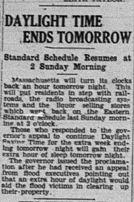 Daylight Savings Time GDT Sept 30 1938